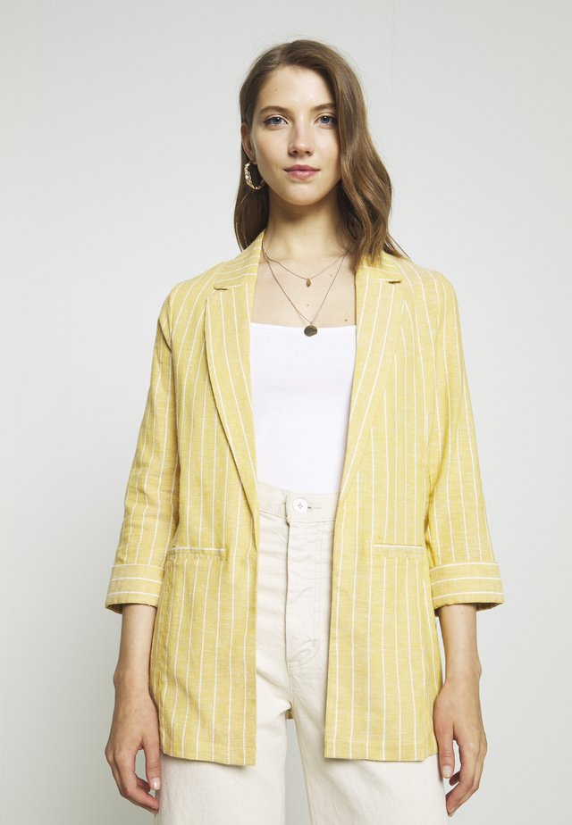 ONLPALOMA CANYON  STRIPE LIFE - Manteau court - golden spice/cloud dancer