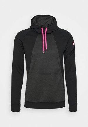 DRY ACADEMY HOODIE - Felpa con cappuccio - black/hyper pink
