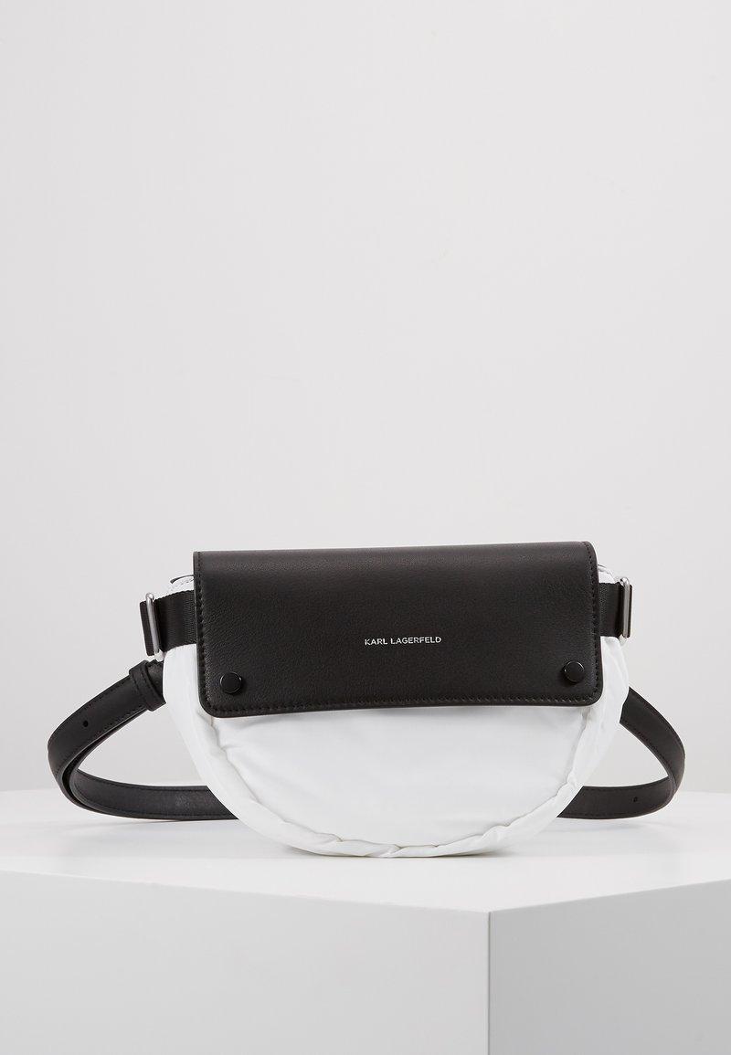 KARL LAGERFELD - IKON BELT BAG - Bum bag - white
