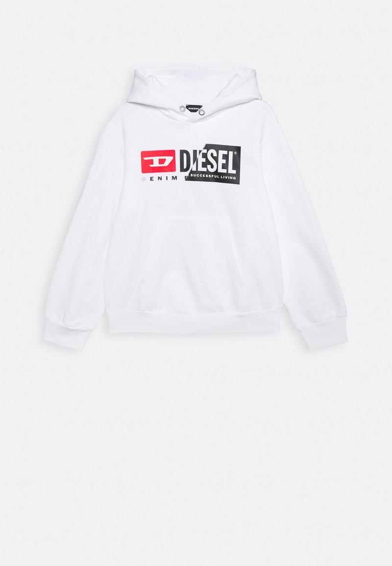 Diesel - SGIRKHOODCUTY OVER F - Sweatshirt - bianco