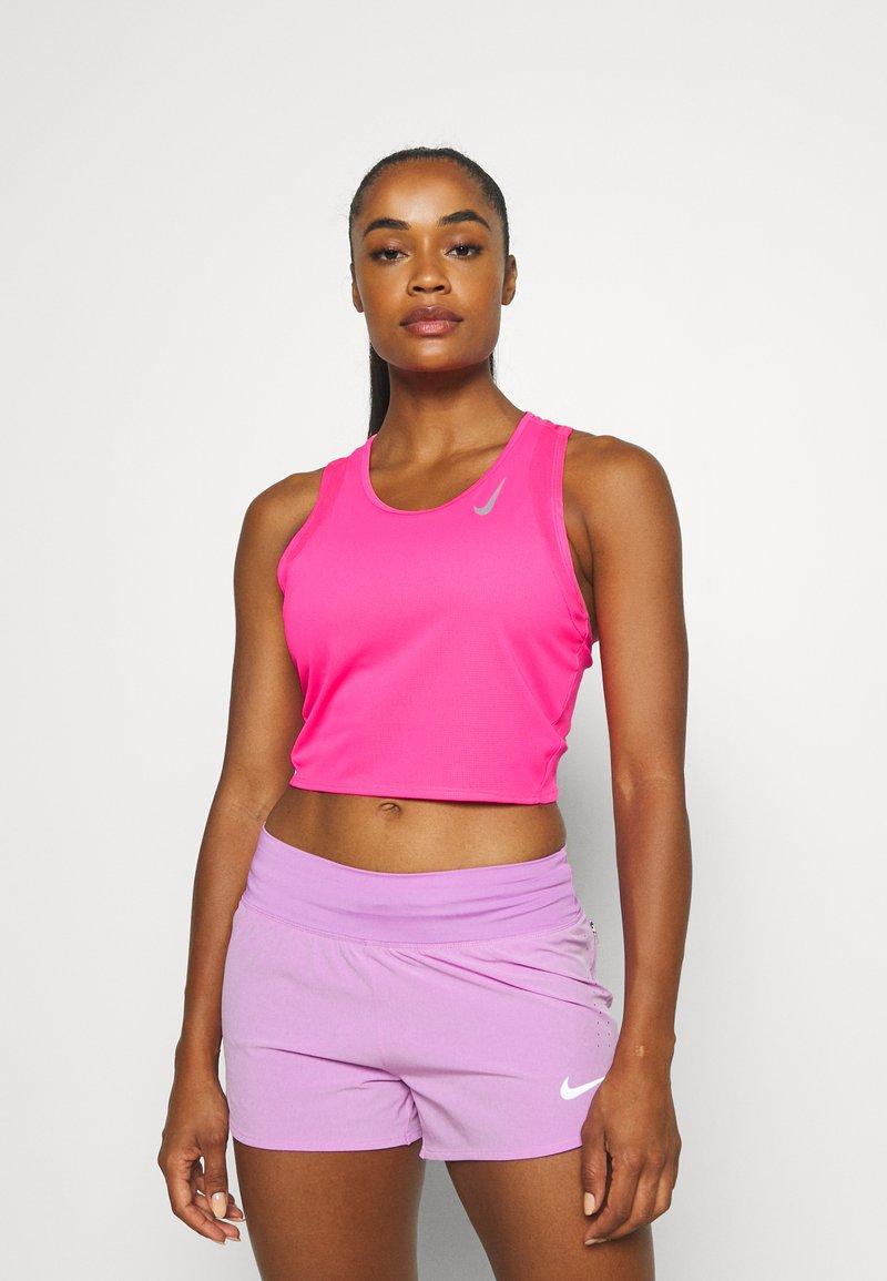 Nike Performance - RACE CROP - Top - hyper pink/silver
