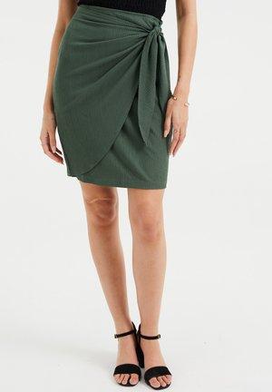 Wrap skirt - olive green