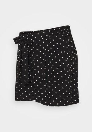 UNDER BUMP TIE WAIST - Shorts - black
