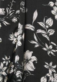 Dorothy Perkins - LARGEFLORAL HEMMIDI DRESS - Kjole - black - 7