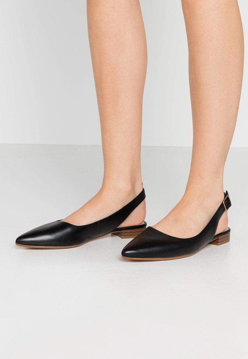 Clarks - LAINA - Slingback ballet pumps - black