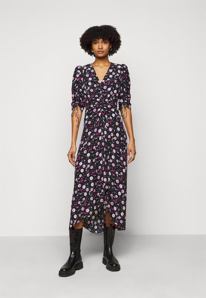The Kooples - DRESS - Day dress - black/pink