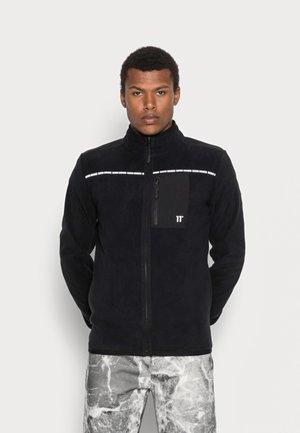 CUT SEW FULL ZIP - Fleecová bunda - black