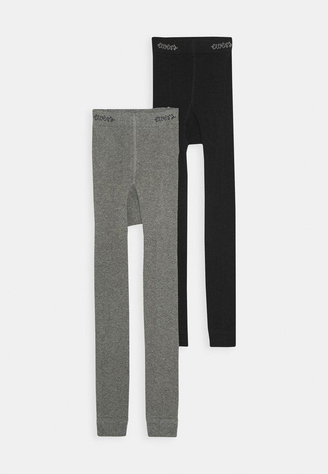 2 PACK - Legging - schwarz/grau