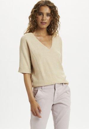 SILLAR  - Print T-shirt - sesame melange