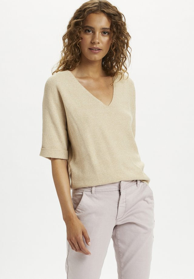 SILLAR  - T-shirt print - sesame melange