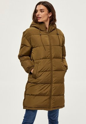 EDITH LONG - Winter coat - beech green