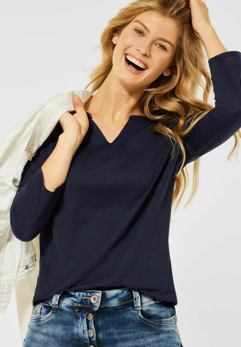 Cecil - Long sleeved top - blau