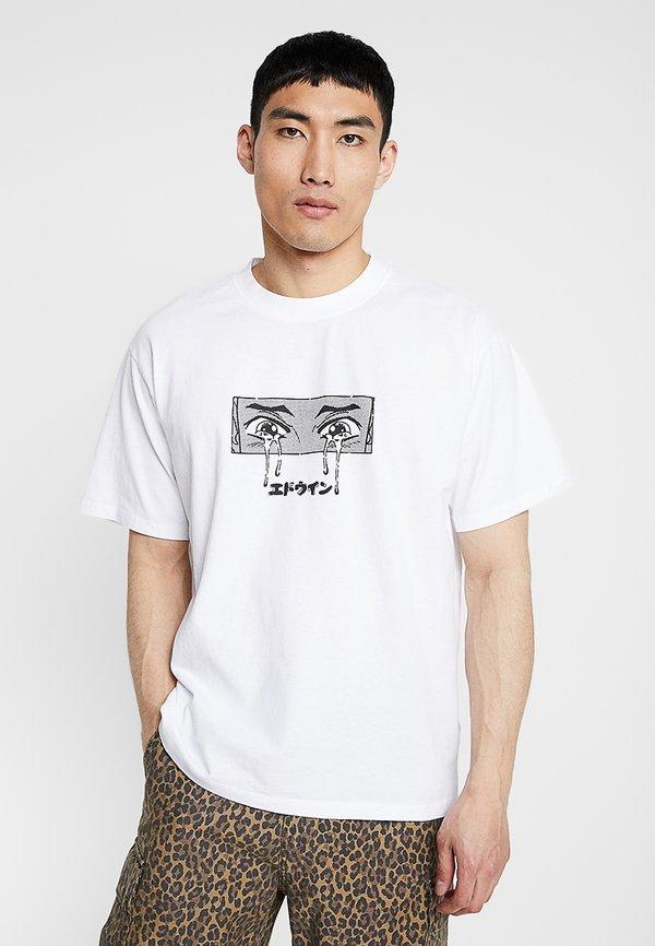Edwin SAD - T-shirt z nadrukiem - white/biały Odzież Męska NIDA