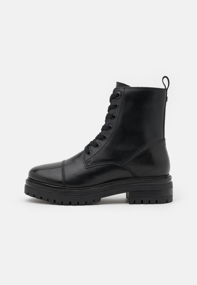 FACT - Lace-up ankle boots - black