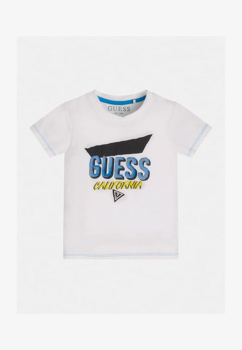 Guess - Print T-shirt - weiß