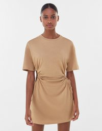Bershka - Jersey dress - beige - 0