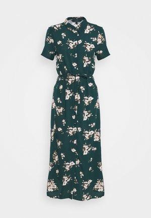 VMSIMPLY EASY LONG SHIRT DRESS - Košilové šaty - ponderosa pine