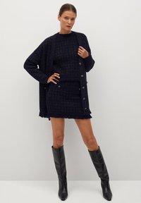 Mango - CHABELI - Mini skirt - dunkles marineblau - 1