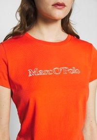 Marc O'Polo - SHORT SLEEVE ROUND NECK - Camiseta estampada - sunset orange - 4