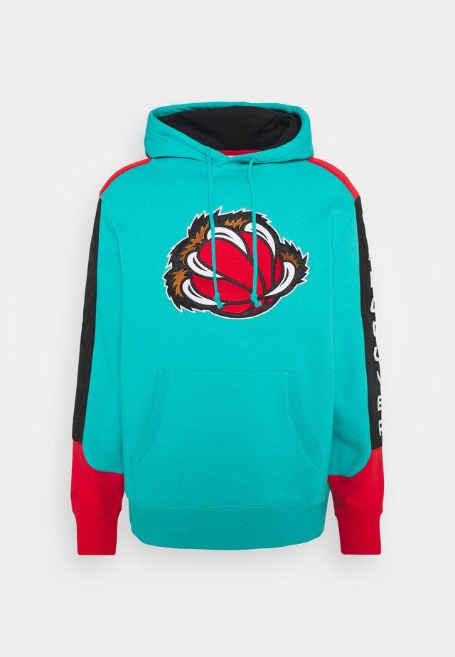NBA VANCOUVER GRIZZLIES FUSION HOODY - Fanartikel - green/grizzlies teal
