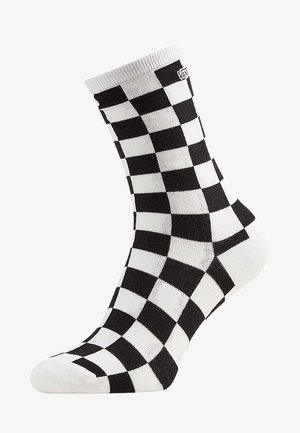 1PK - Socks - black checkerboard
