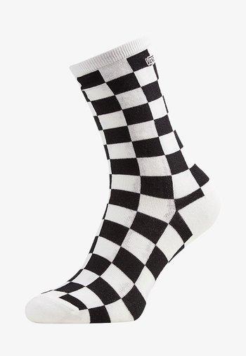 WM TICKER SOCK (6.5-10, 1PK) - Socks - black checkerboard