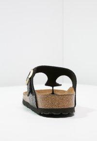 Birkenstock - GIZEH - T-bar sandals - black/multicolor - 4