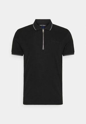 MERCERIZED WITH LOGO PRINT - Poloshirt - nero