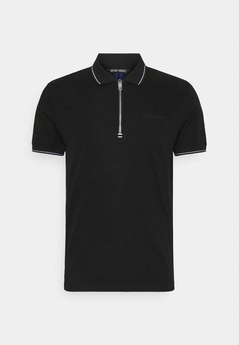 Antony Morato - MERCERIZED WITH LOGO PRINT - Polo shirt - nero