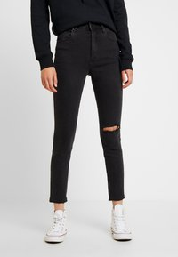 Cotton On - HIGH RISE CROPPED - Jeans Skinny Fit - washed black - 0