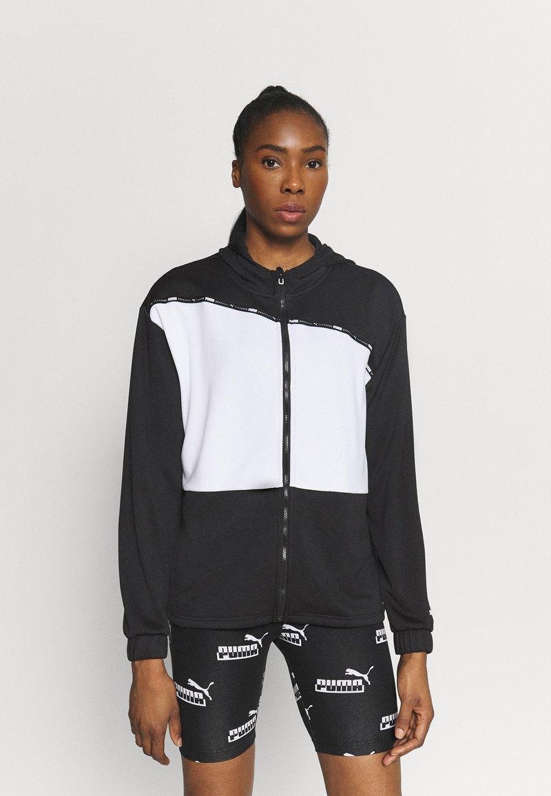 Puma - TRAIN LOGO ULTRA JACKET - Training jacket - black/white