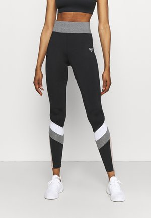HAVANA - Leggings - black/white/grindle