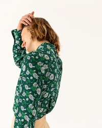 IVY & OAK - STAND UP COLLAR BLOUSE - Blouse - evergreen - 4