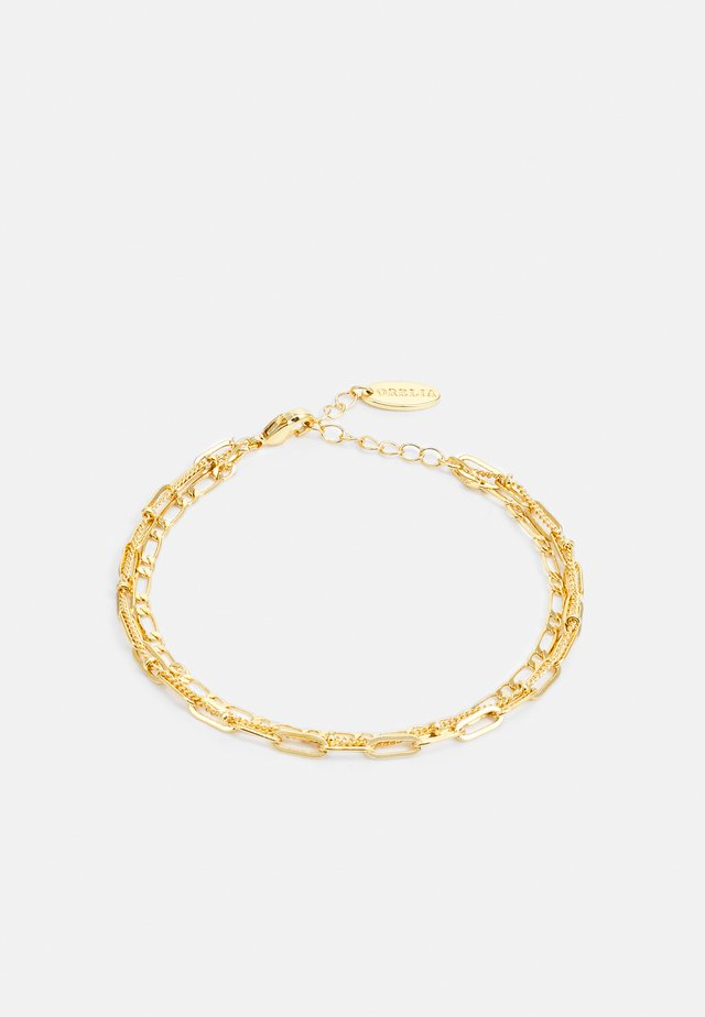 MIXED CHAIN 3 ROW BRACELET - Armbånd - pale gold-coloured