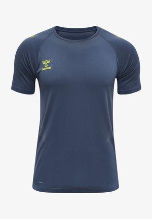 HMLLEAD PRO SEAMLESS - T-shirt imprimé - mottled dark blue