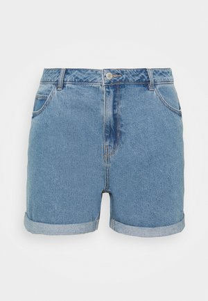 VMNINETEEN LOOSE MIX  - Denim shorts - light blue