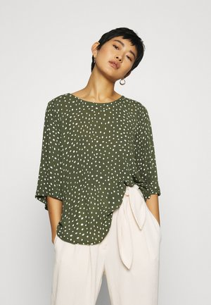 KABILLIE AMBER BLOUSE - Blůza - grape leaf/chalk