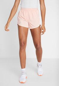 Under Armour - FLY BY SHORT - Sports shorts - calla/peach frost - 0