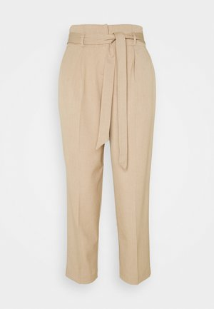 CITY PANTS WITH BELT - Trousers - latte macchiato