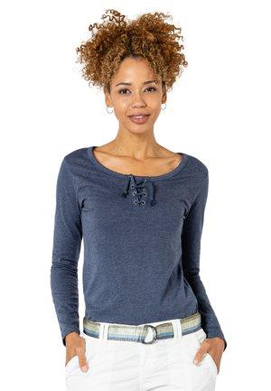 Langarmshirt mit Kordeln - Long sleeved top - light-blue