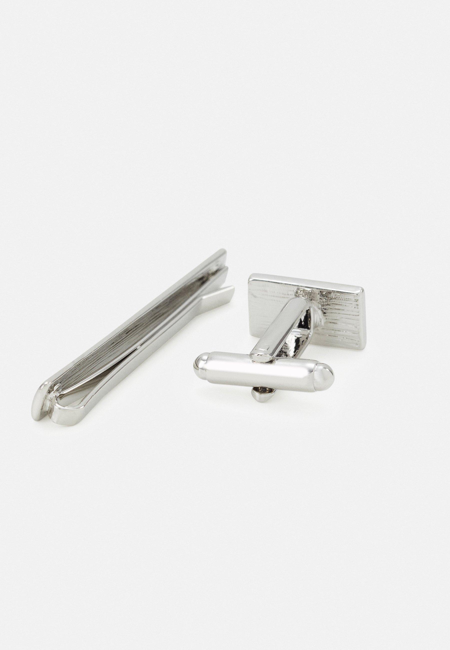 Burton Menswear London Cuff Set - Manschettenknopf Silver-coloured