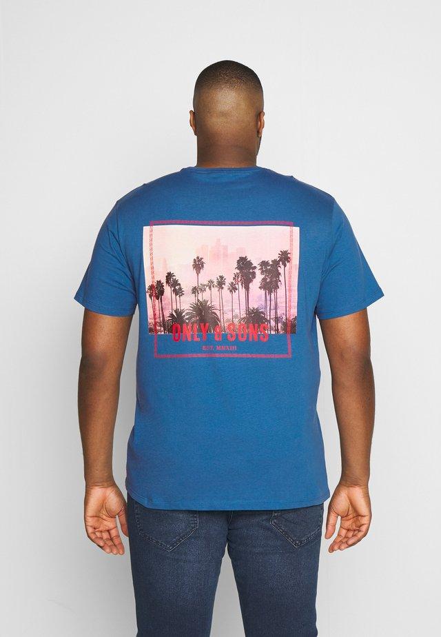 ONSROVER REG TEE  - Print T-shirt - dark blue