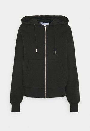 BASIC ZIP UP HOODIE - Mikina na zip - black