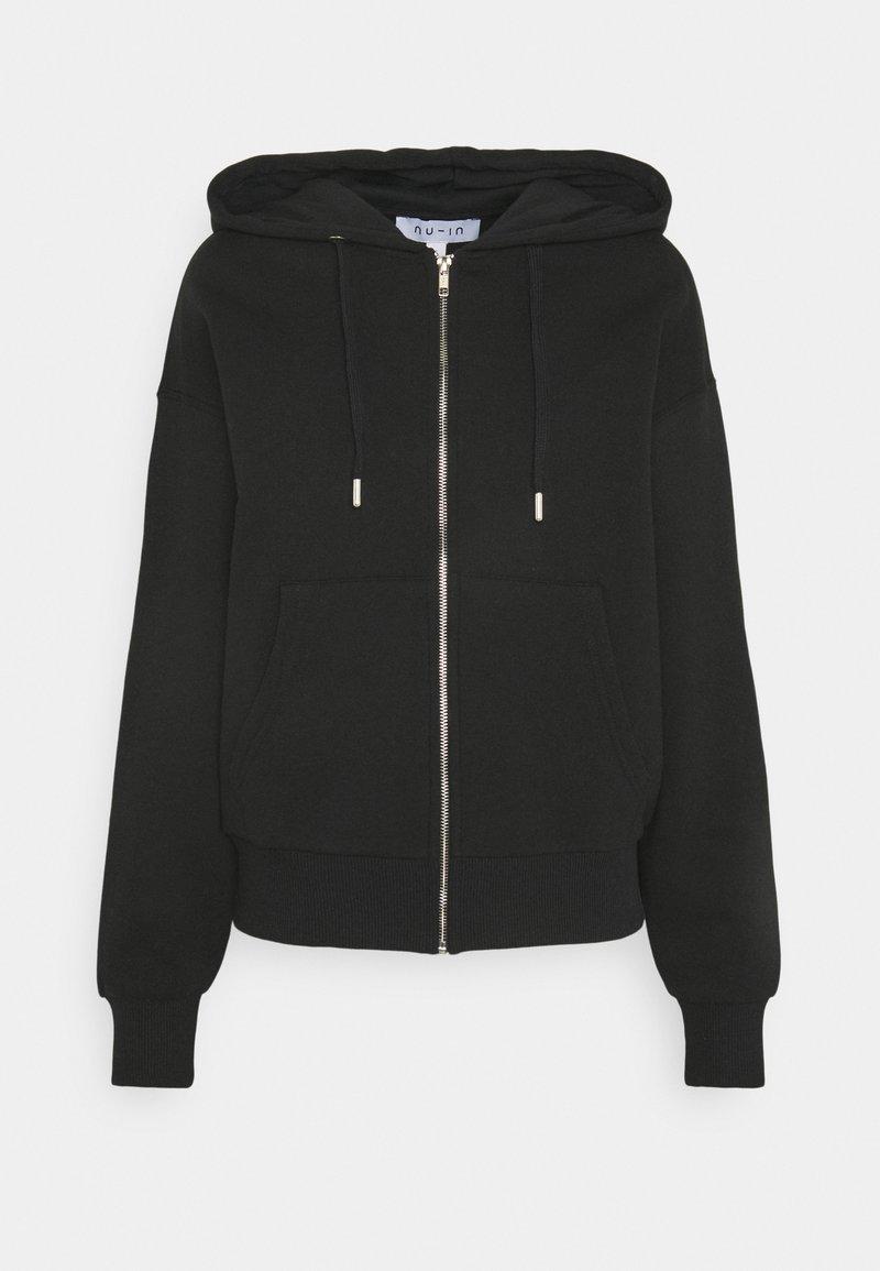 NU-IN - BASIC ZIP UP HOODIE - Zip-up hoodie - black