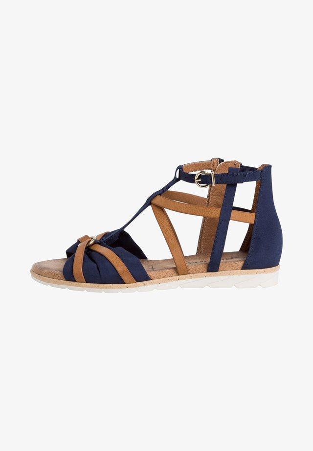 Sandales compensées - navy nut
