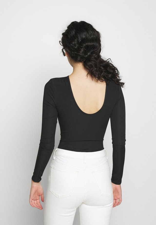 CLED LOW BACK LONG SLEEVE  - T-shirt à manches longues - black