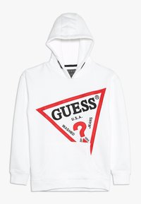Guess - JUNIOR OVERSIZE HOODED - Felpa con cappuccio - true white - 0