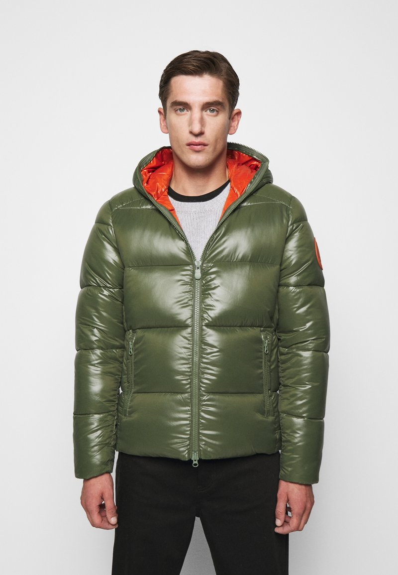 Save the duck - LUCKY - Winter jacket - thyme green
