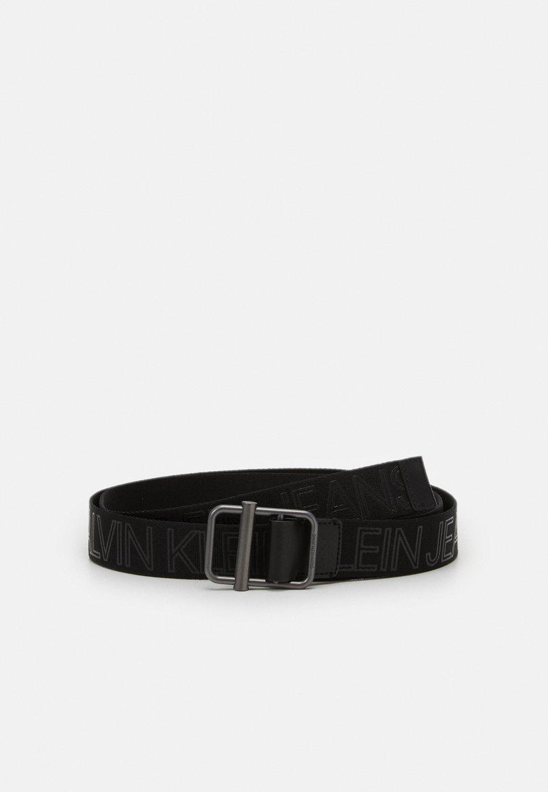 Calvin Klein Jeans - SLIDING BAR WEBBING - Belt - black
