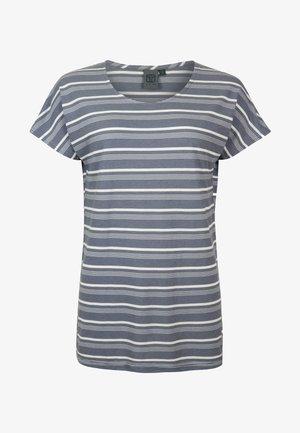CREAM - Print T-shirt - ashblue white